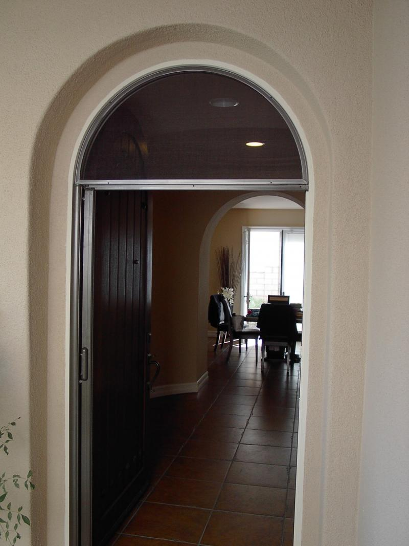 Arched Door Retractable Screen